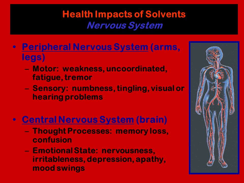 Health Impacts of Solvents Nervous System