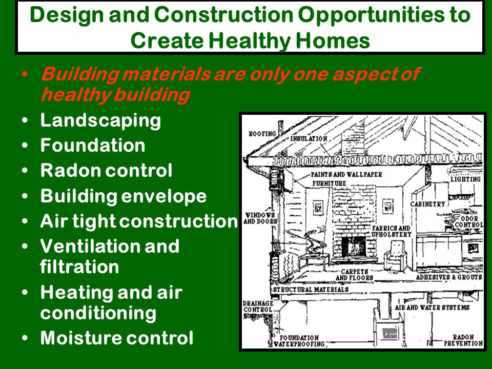 Design and Construction Opportunities to Create Healthy Homes