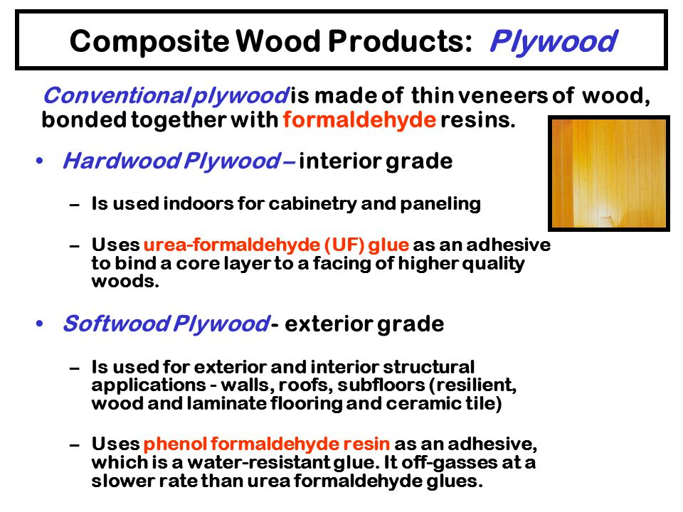 Composite Wood Products: Plywood