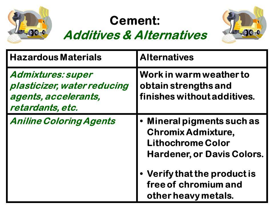 Cement: Additives & Alternatives