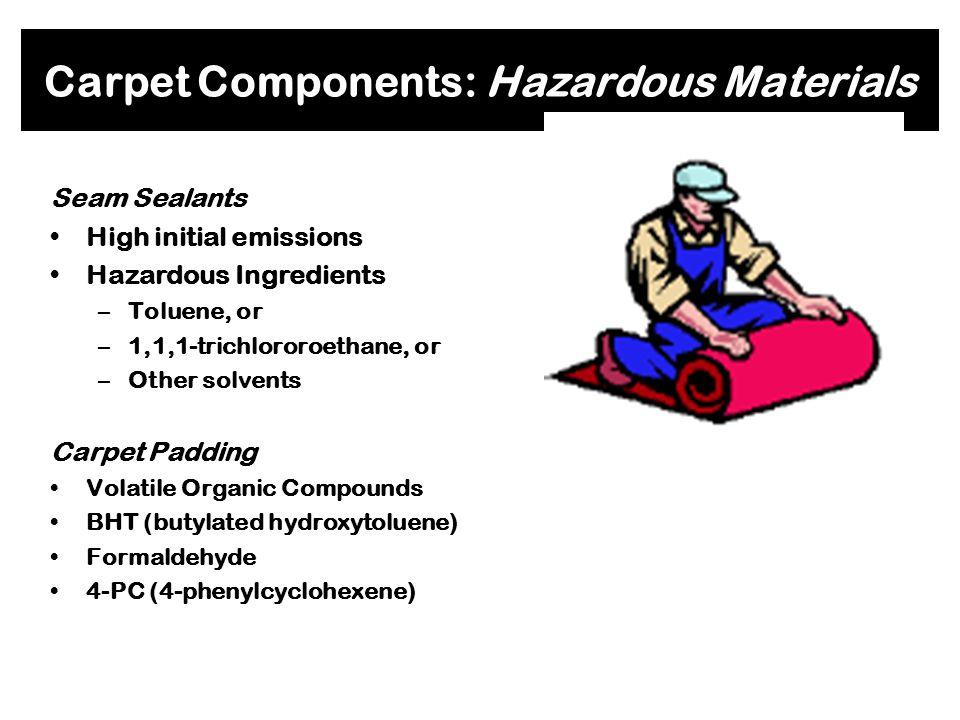 Carpet Components: Hazardous Materials