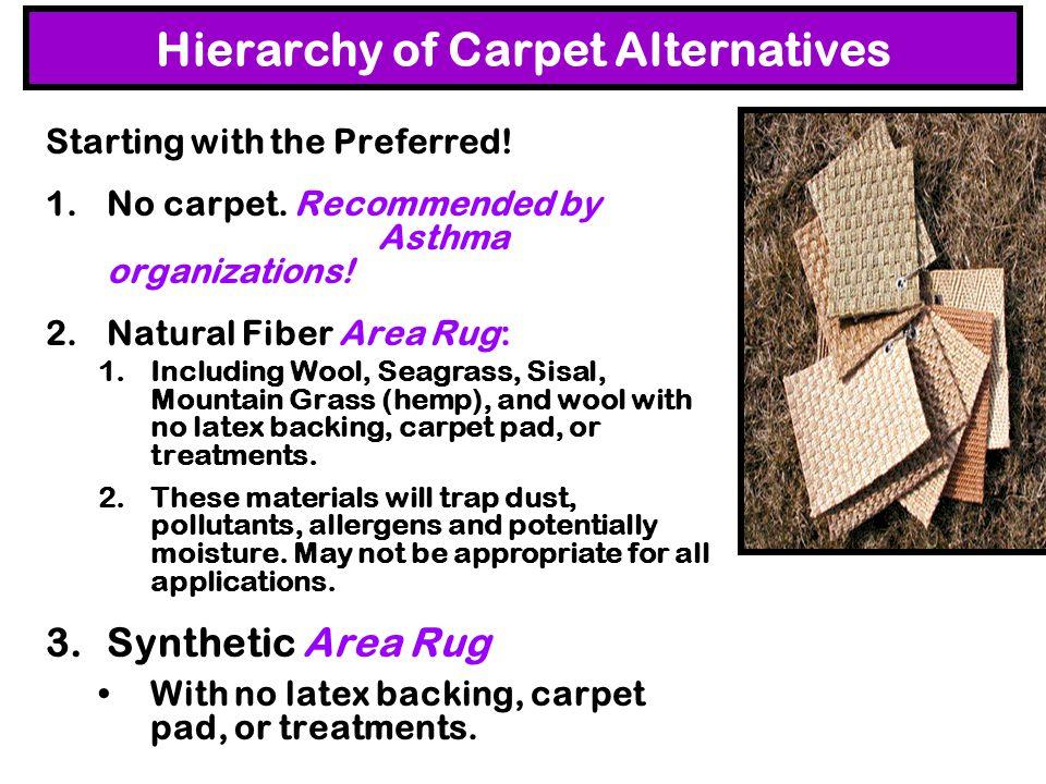 Hierarchy of Carpet Alternatives