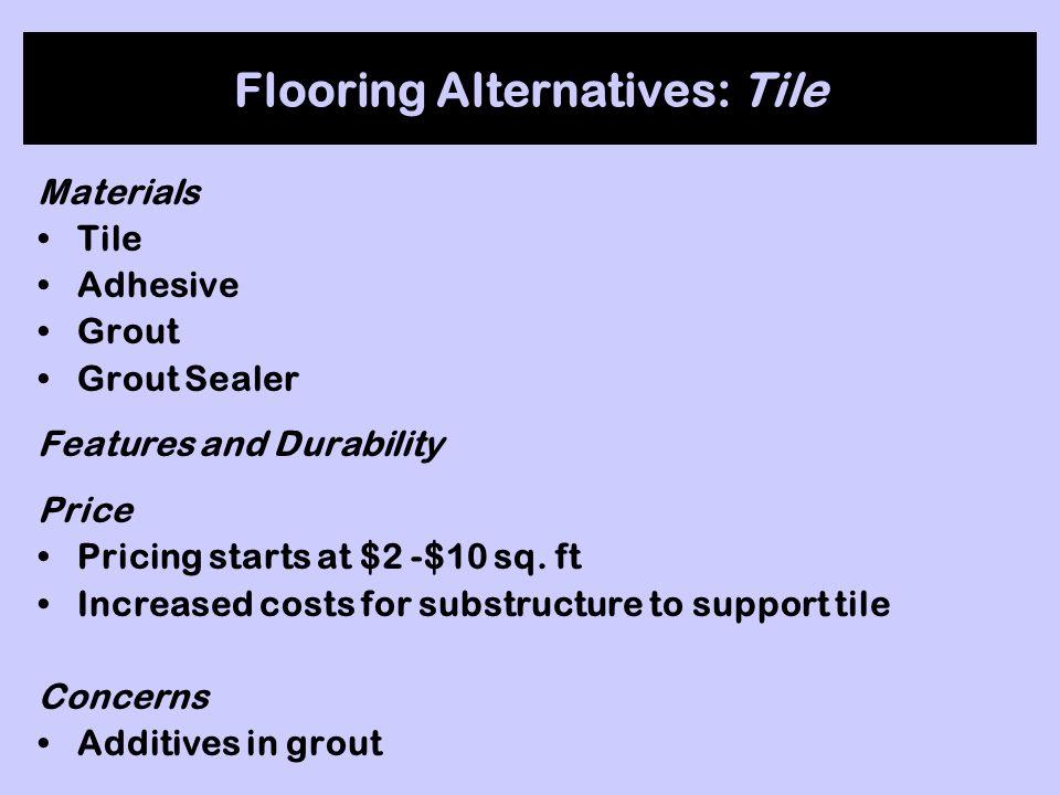 Flooring Alternatives: Tile