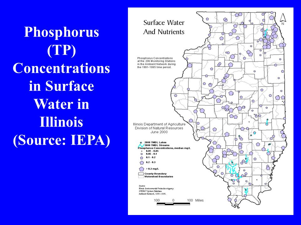 Phosphorus (TP) Concentrations in Surface Water in Illinois