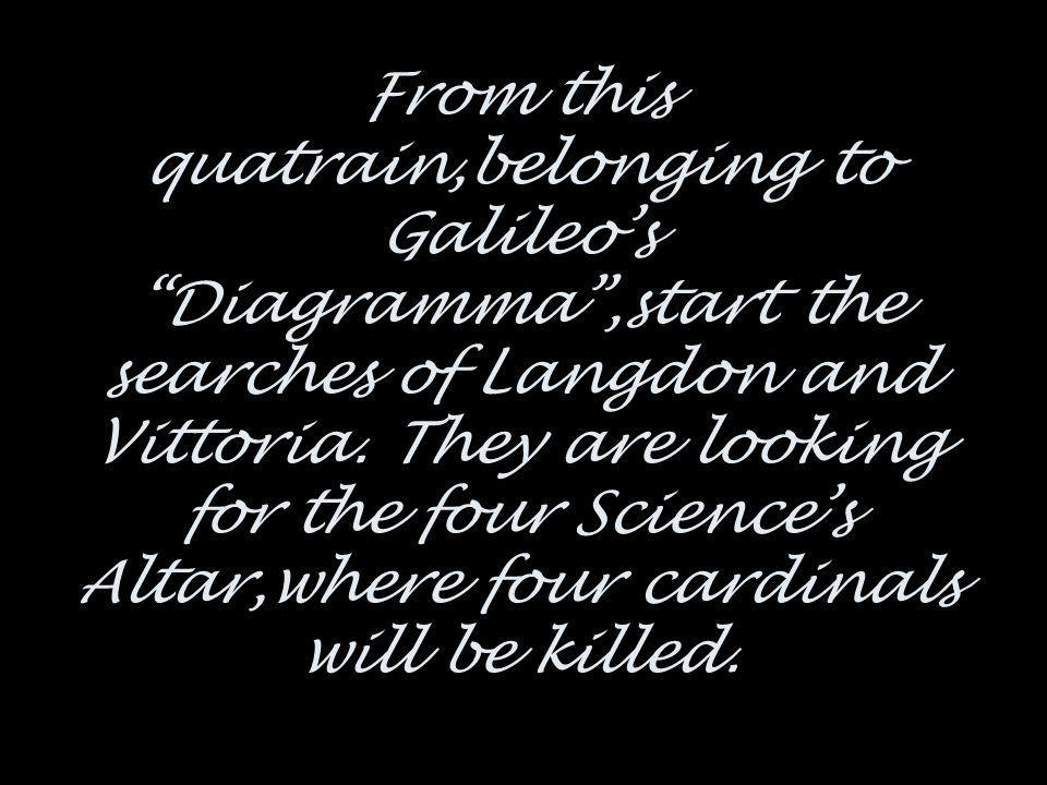 From this quatrain,belonging to Galileo's Diagramma ,start the searches of Langdon and Vittoria.