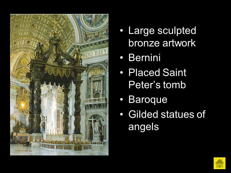 Large sculpted bronze artwork
