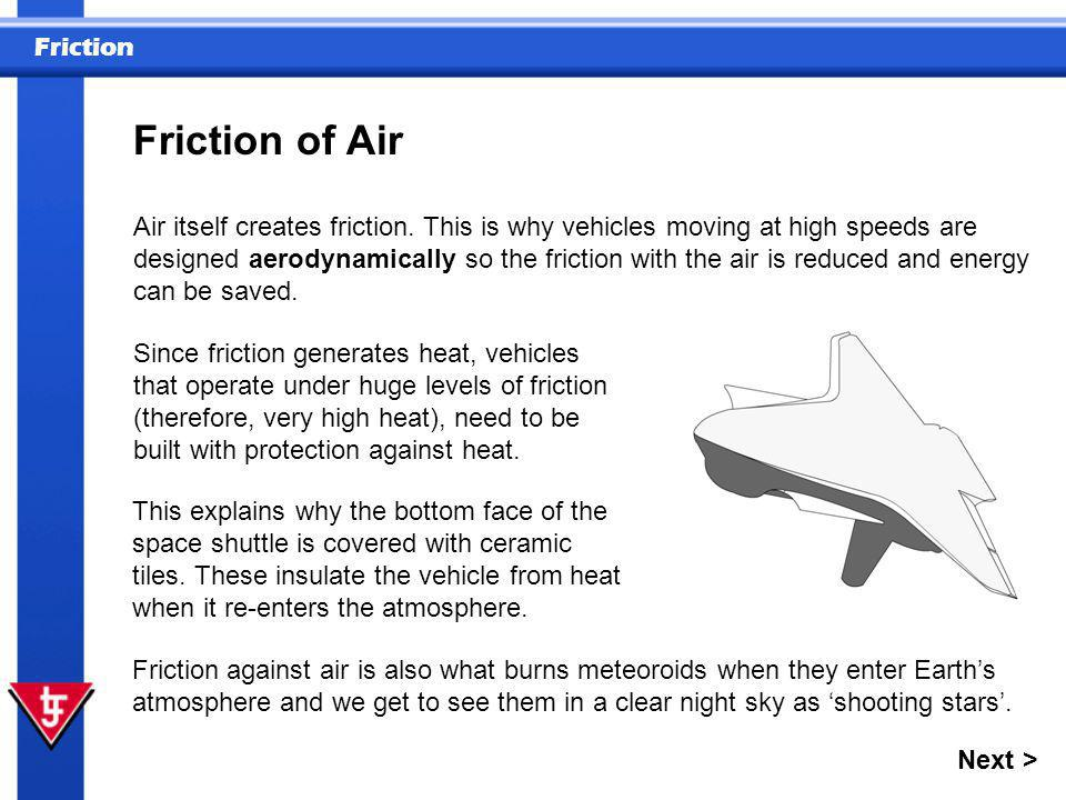 Friction of Air