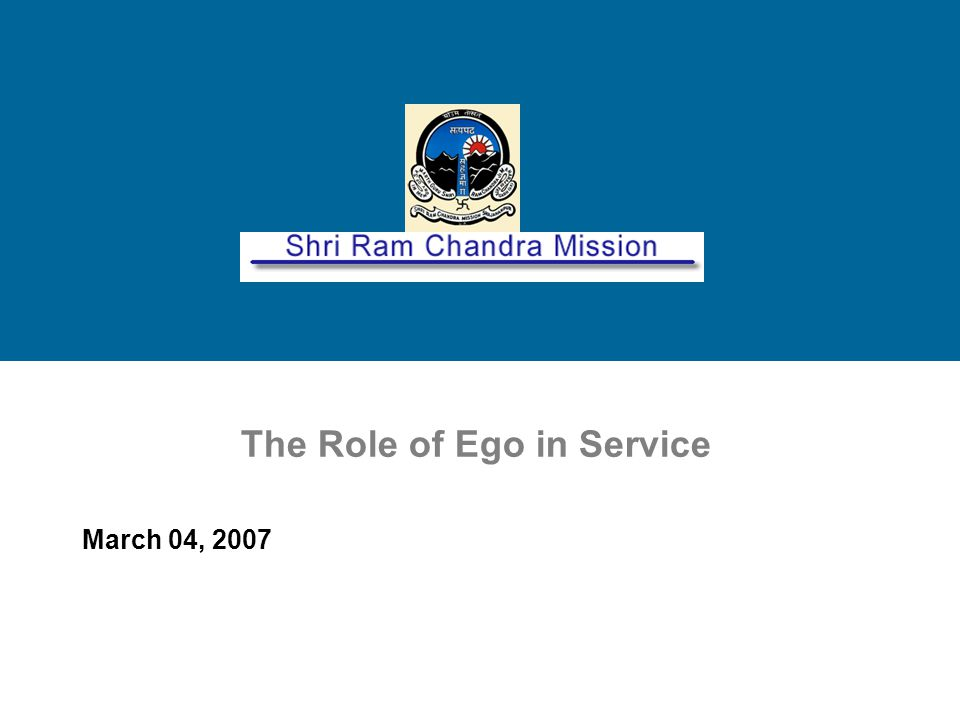 The Role of Ego in Service