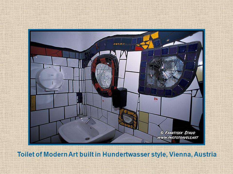 Toilet of Modern Art built in Hundertwasser style, Vienna, Austria
