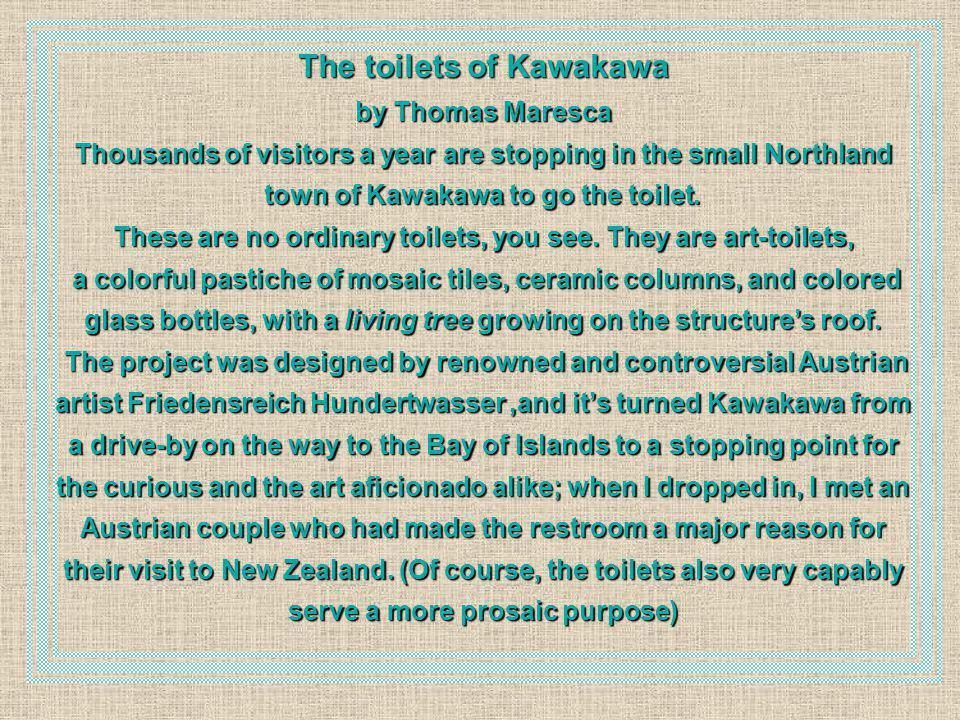 The toilets of Kawakawa