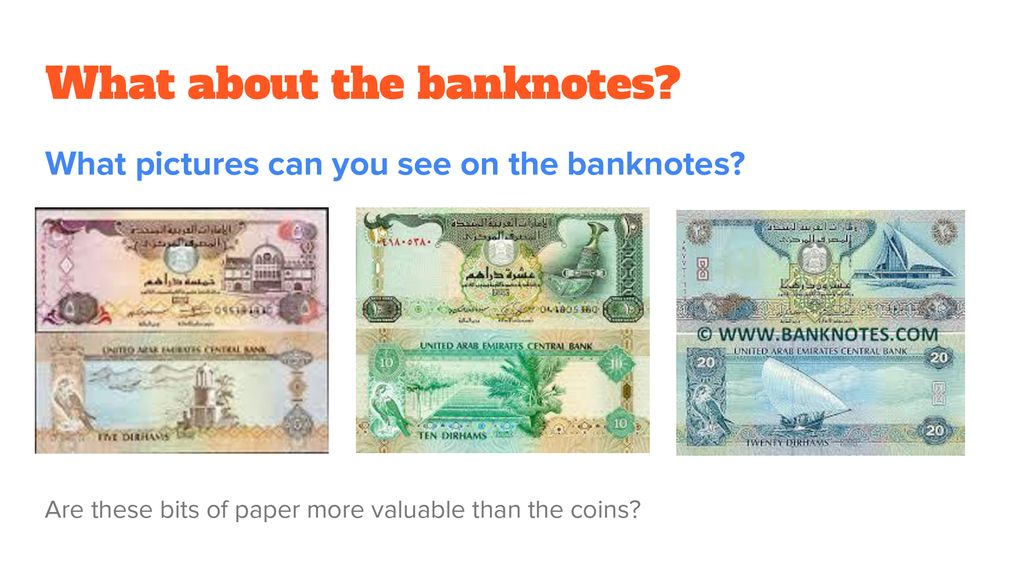What about the banknotes