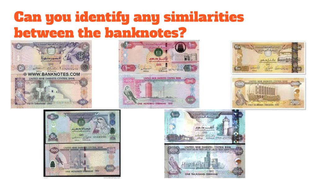 Can you identify any similarities between the banknotes