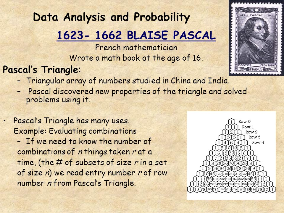 Data Analysis and Probability