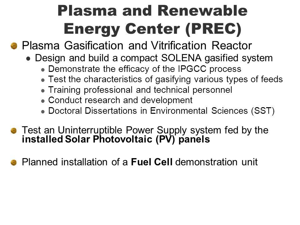 Plasma and Renewable Energy Center (PREC)