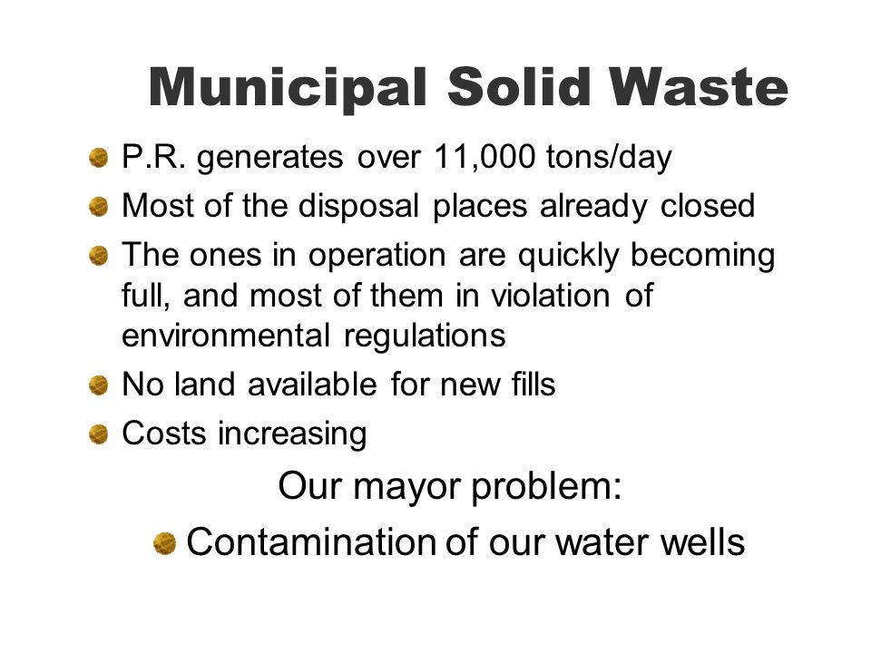 Contamination of our water wells