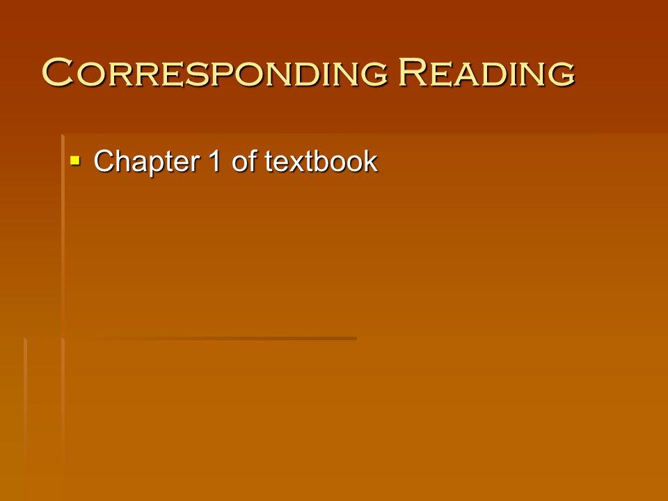 Corresponding Reading