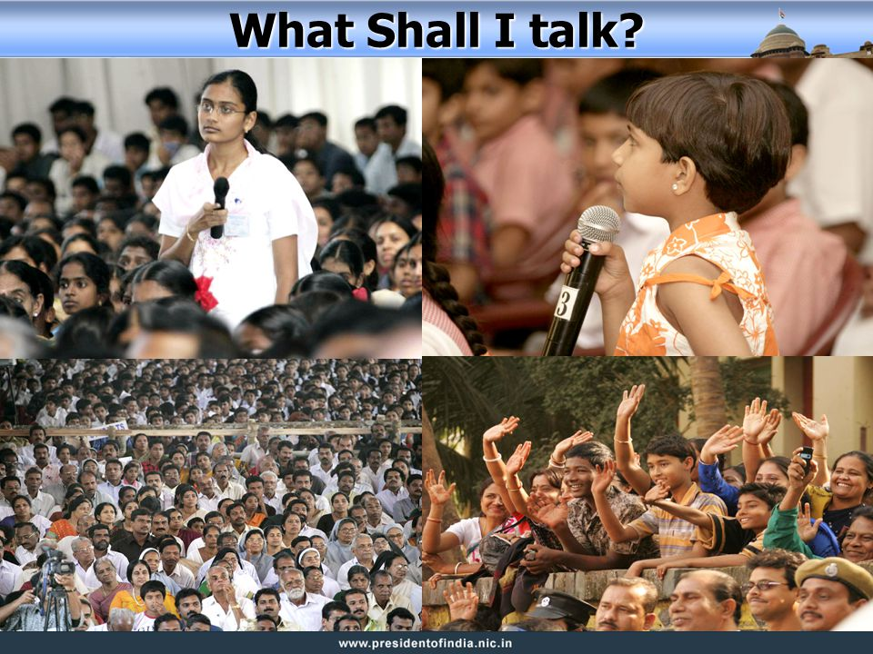 What Shall I talk