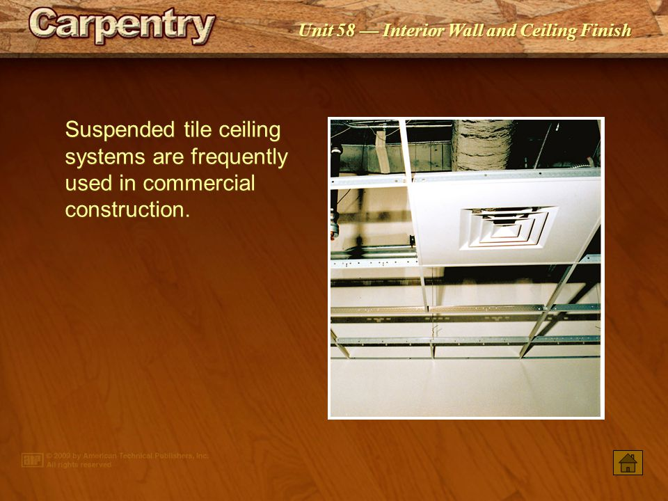 Suspended tile ceiling systems are frequently used in commercial construction.