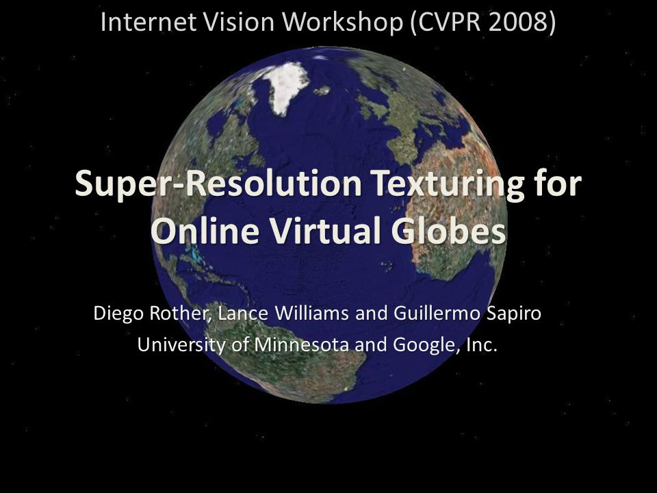 Super-Resolution Texturing for Online Virtual Globes