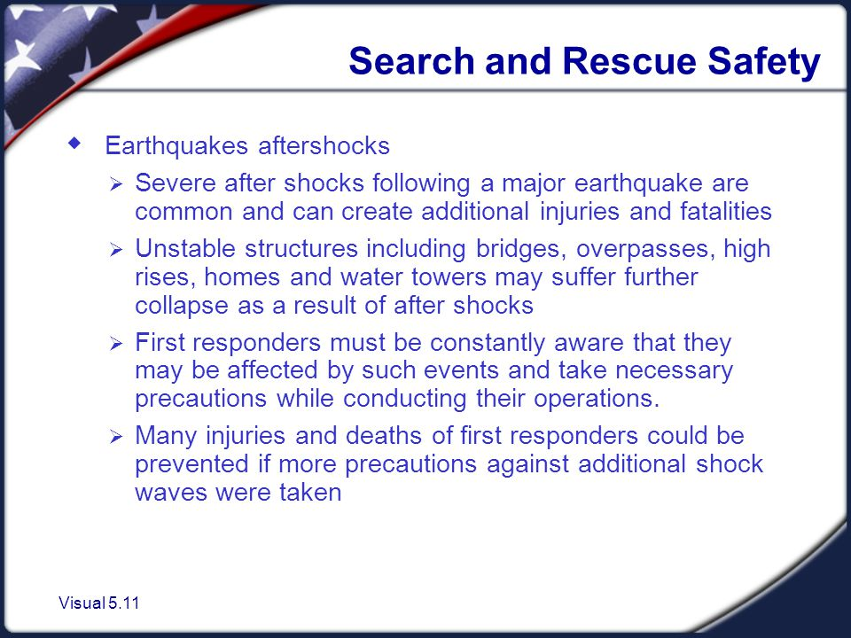 Search and Rescue Safety