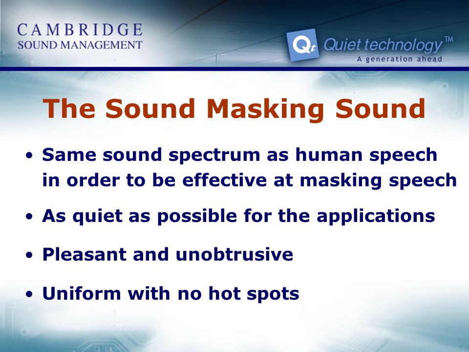 The Sound Masking Sound