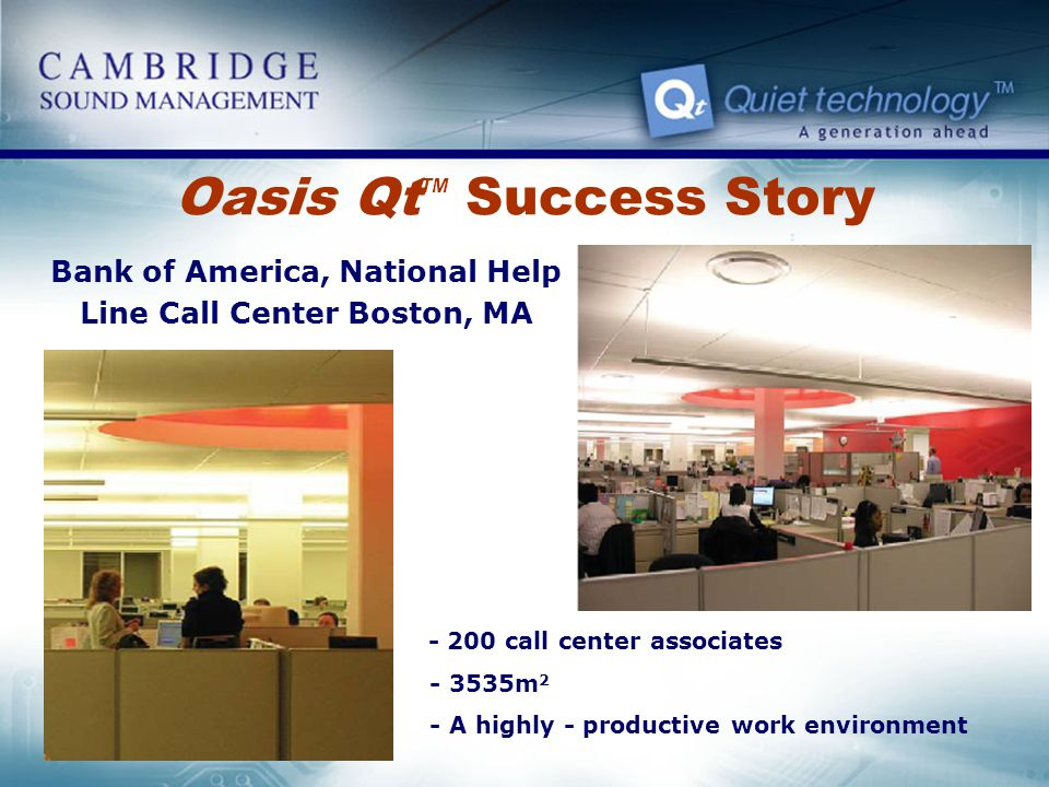 Oasis QtTM Success Story