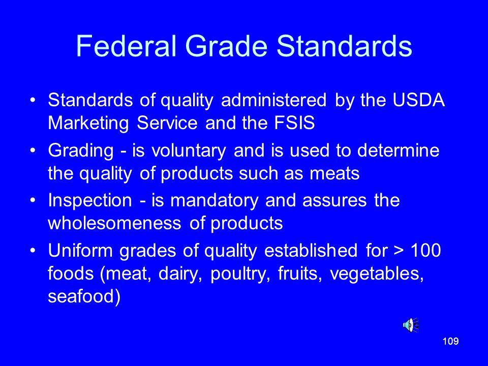 Federal Grade Standards