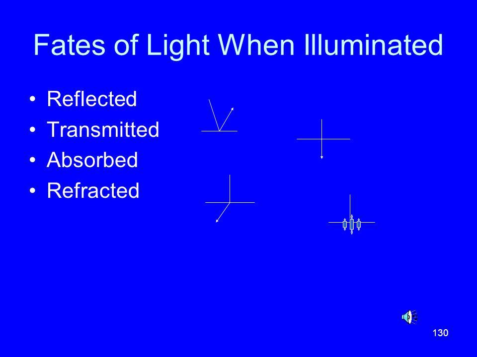 Fates of Light When Illuminated