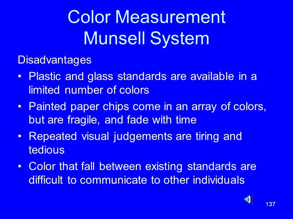 Color Measurement Munsell System