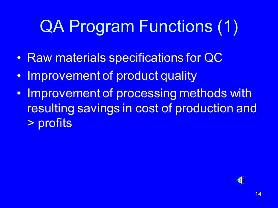 QA Program Functions (1)