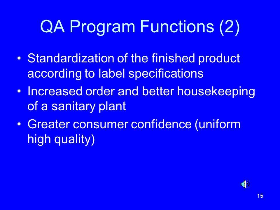 QA Program Functions (2)