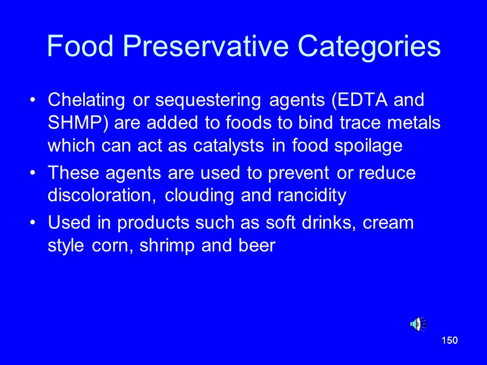 Food Preservative Categories