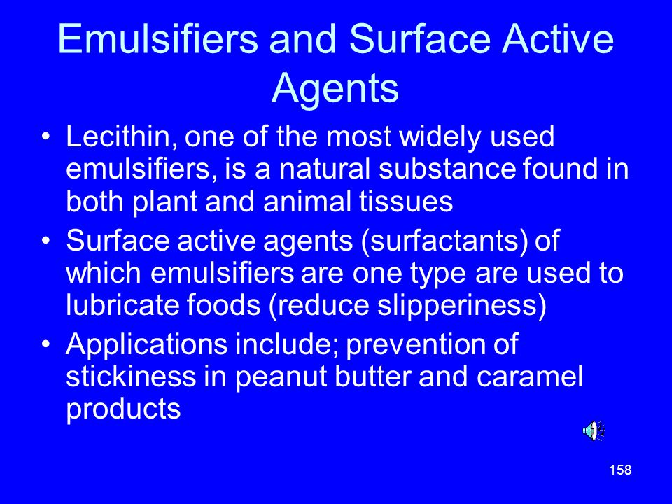 Emulsifiers and Surface Active Agents