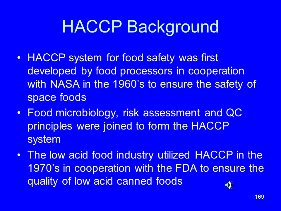 HACCP Background