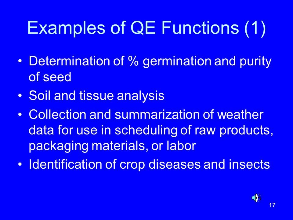Examples of QE Functions (1)