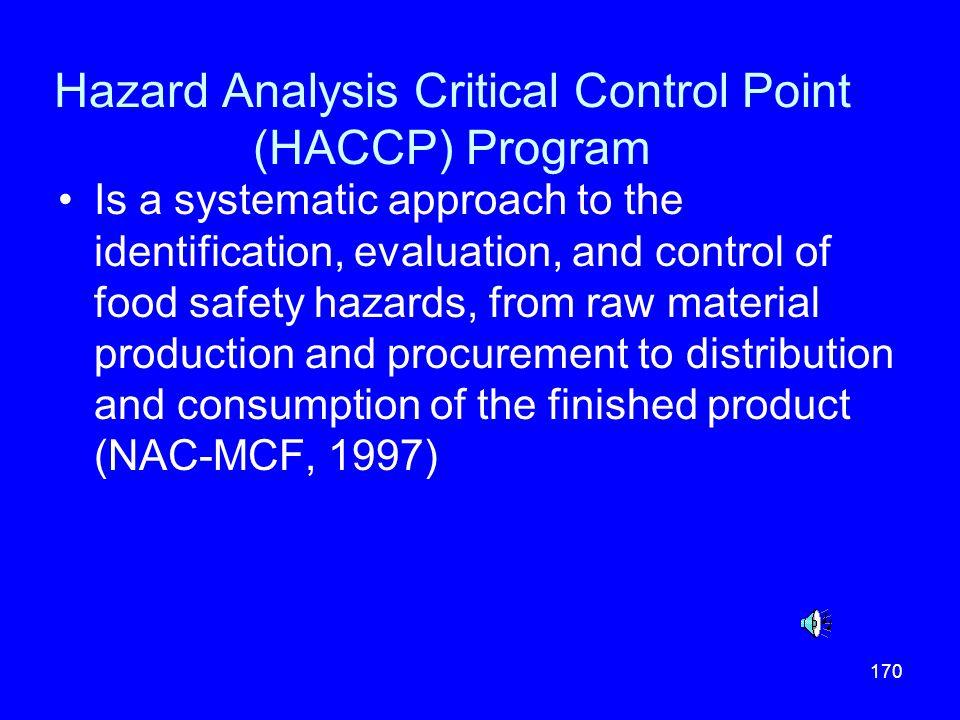 Hazard Analysis Critical Control Point (HACCP) Program