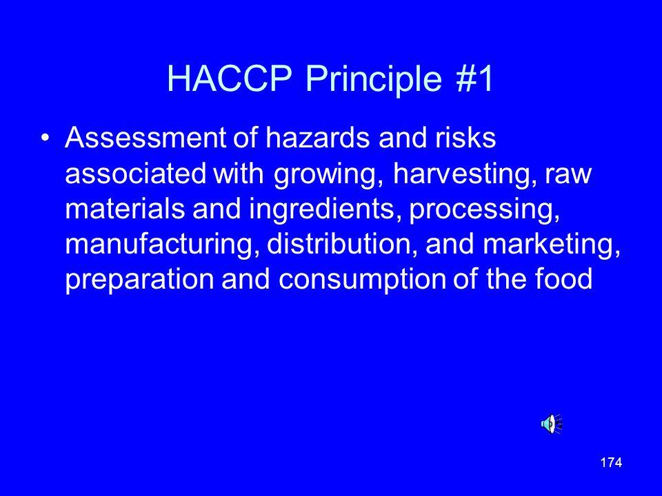 HACCP Principle #1