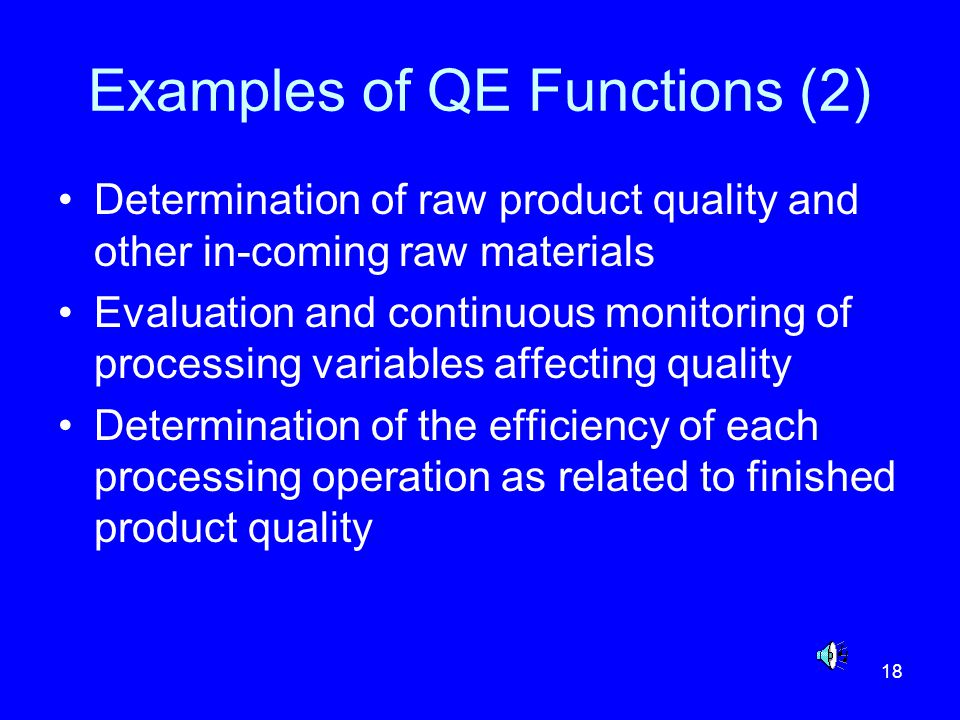 Examples of QE Functions (2)