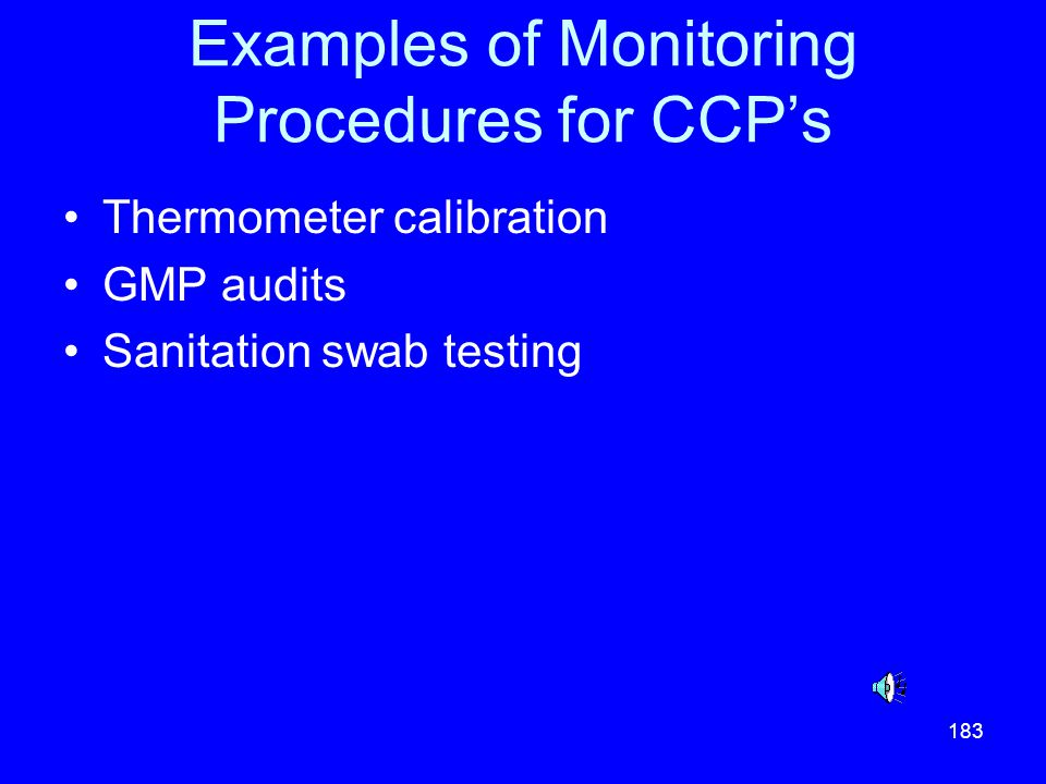 Examples of Monitoring Procedures for CCP's