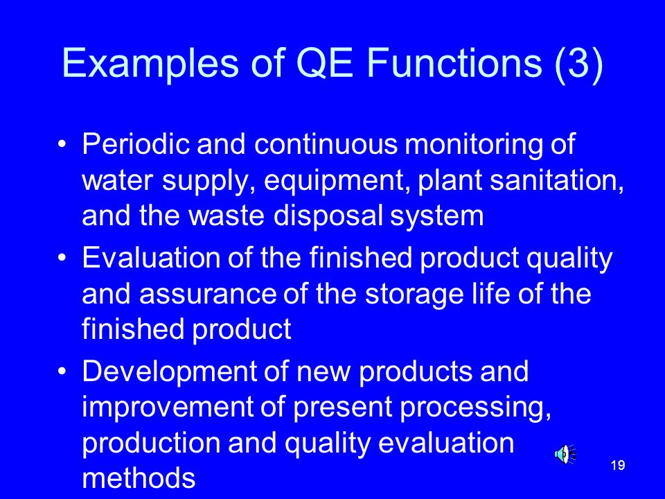 Examples of QE Functions (3)