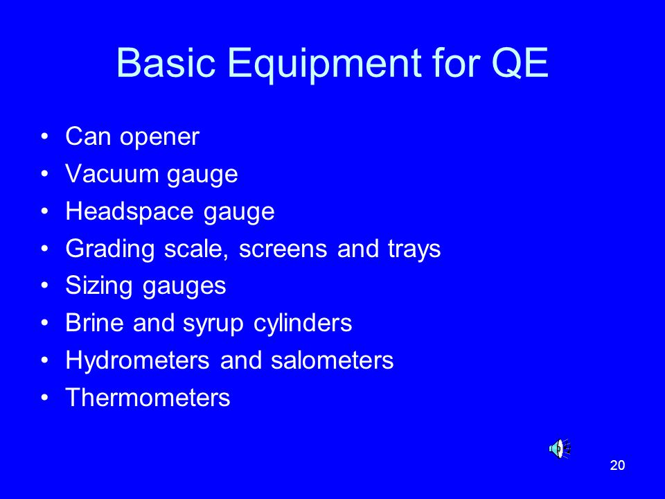 Basic Equipment for QE Can opener Vacuum gauge Headspace gauge
