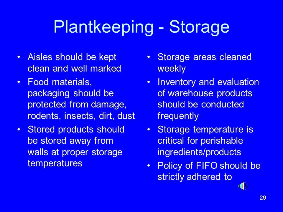 Plantkeeping - Storage