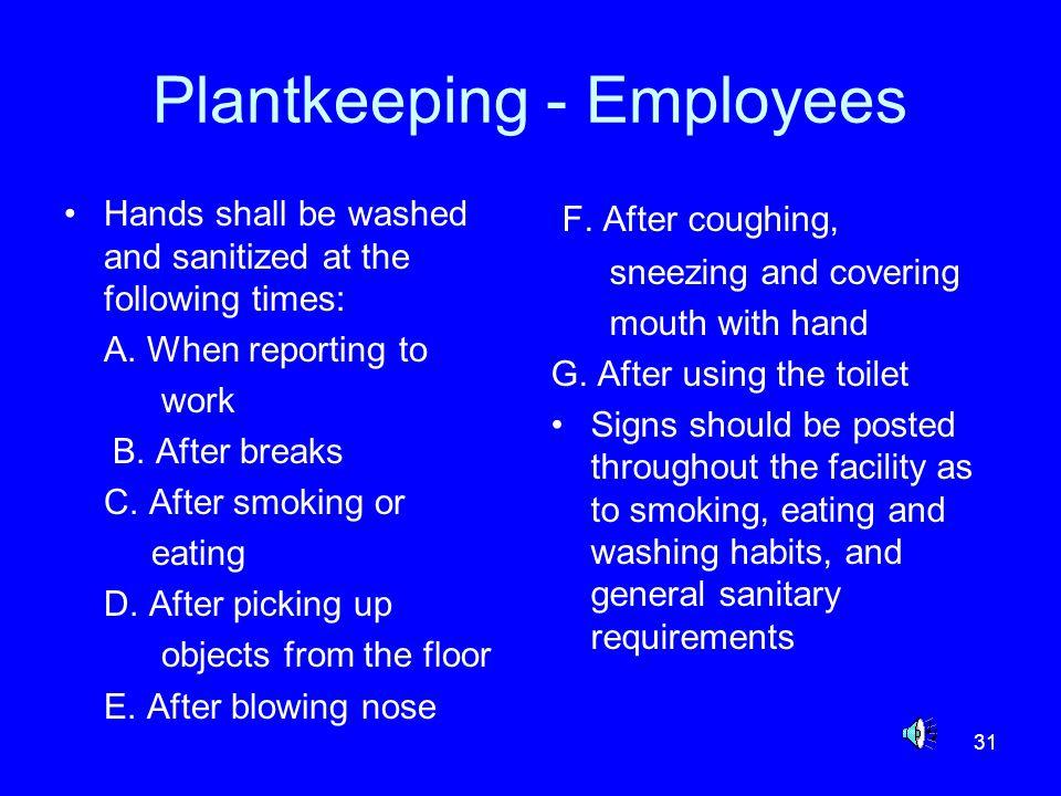 Plantkeeping - Employees