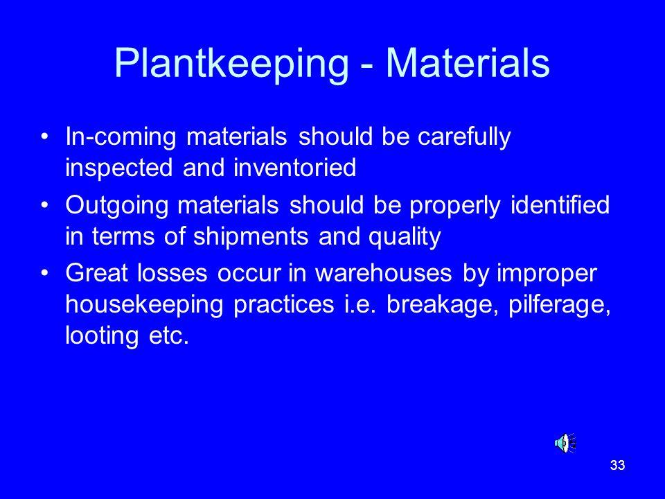 Plantkeeping - Materials