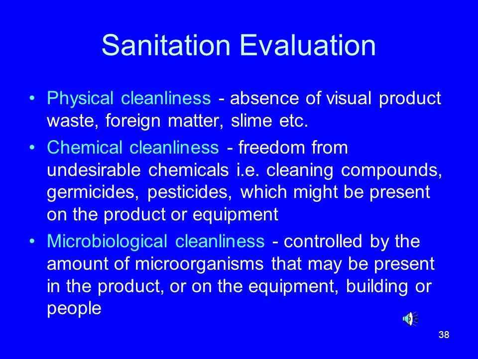 Sanitation Evaluation