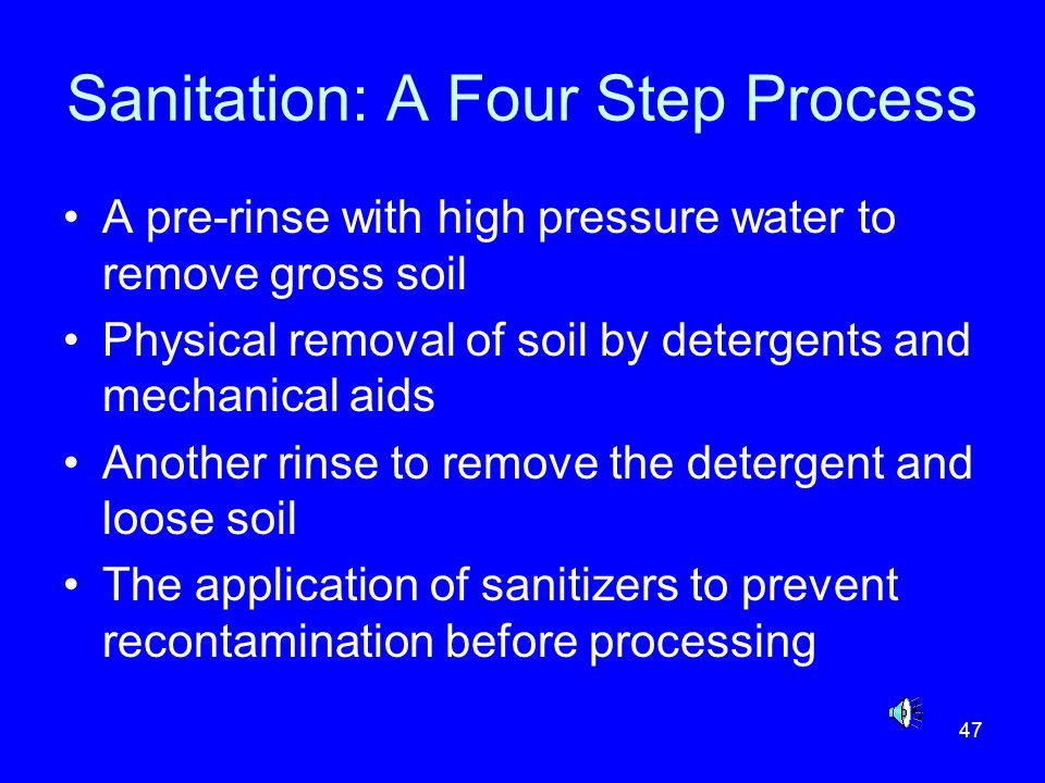 Sanitation: A Four Step Process