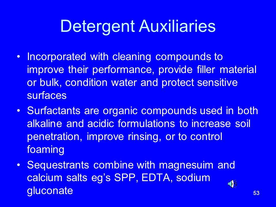 Detergent Auxiliaries