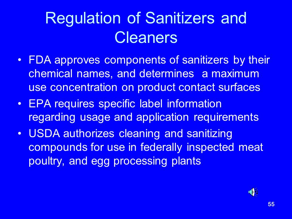 Regulation of Sanitizers and Cleaners