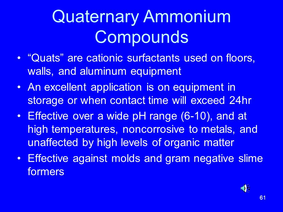 Quaternary Ammonium Compounds