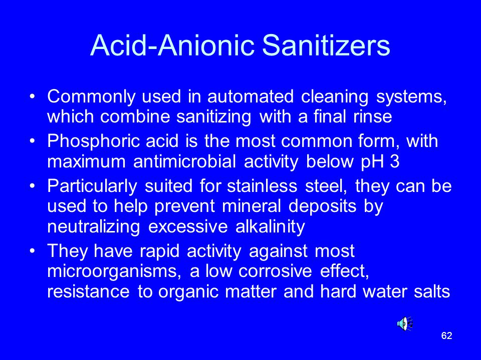 Acid-Anionic Sanitizers